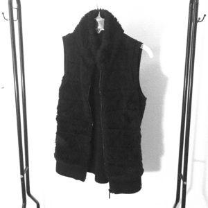 Sweater zip up vest